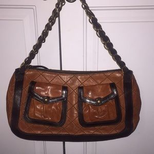 MOSCHINO C&C quilted leather purse with chain